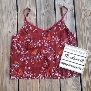 Madewell Button-down Cami in Butterfly Sanctuary